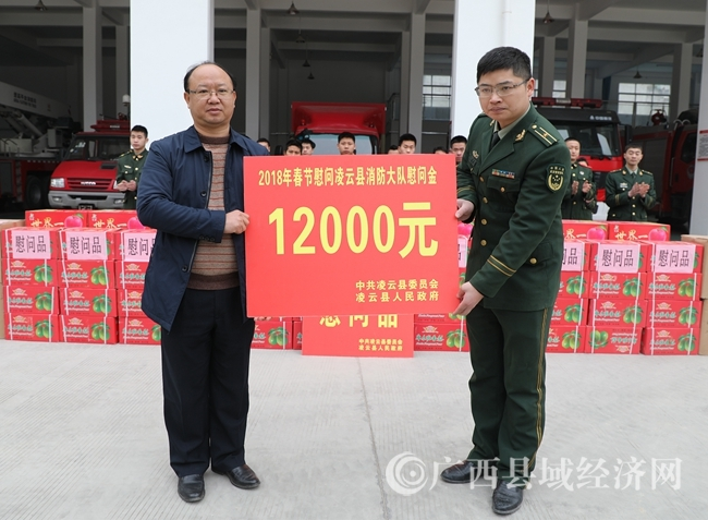 凌云开展春节慰问驻地部队官兵活动