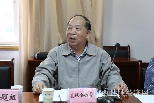 广西县域科学发展促进会代理会长、广西县域发展规划研究中心主任钟启泉、原广西社科院副院长在会上讲话。