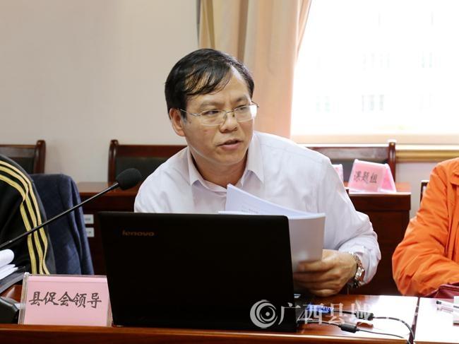 广西县域科学发展促进会副会长兼秘书长黄品优作为编制组代表作规划介绍。