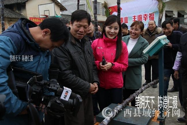 中央电视台记者在三里镇采访甜心果蔗