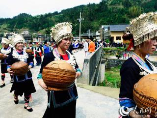 """广西龙胜举行一年一度古朴神秘侗族""""祭萨节"""""""