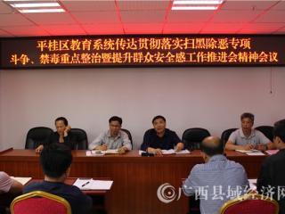 平桂区教育系统召开禁毒工作会议