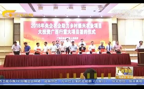 央企名企助力广西乡村振兴 超300亿元农业重大项目签约