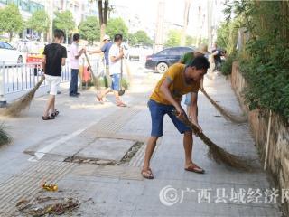 宁明县司法局组织社区矫正人员开展公益活动