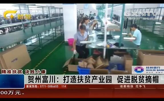 富川县:打造扶贫产业园 促进脱贫摘帽
