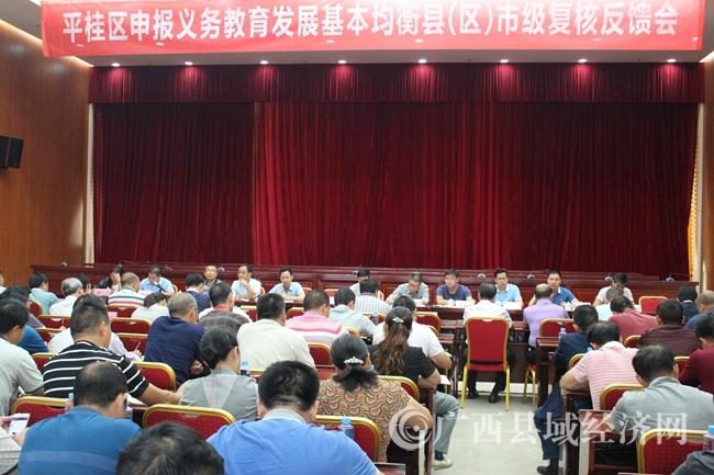 平桂区:召开申报义务教育基本均衡县(区)市级复核反馈会