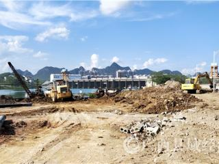 大化县:生态水岸公园建设火热推进