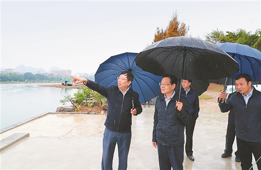 陈武实地检查漓江生态保护和修复工作