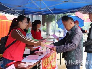 """平果县:第五个全国""""扶贫日""""主题宣传咨询服务活动深受群众欢迎"""