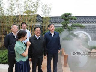 陈武检查邕江综合整治和园博园项目建设