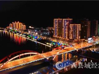 平乐县:航拍古昭州迷离夜色  斑斓多姿