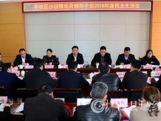 平桂区委书记赖春忠参加指导沙田镇党员领导干部2018年度民主生活会