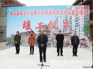 凌云县:茶文化街建设项目竣工