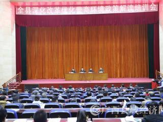 大化召开全县深化改革优化营商环境政策解读培训工作会议