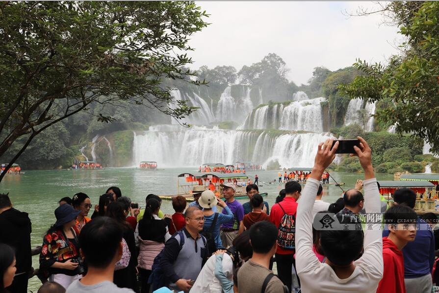 跨境旅游过年成崇左旅游成风尚 德天瀑布等受欢迎