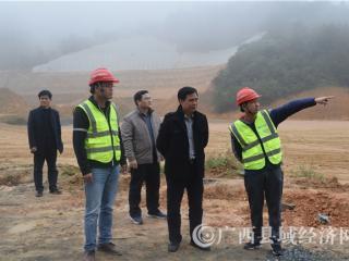 巴马瑶族自治县政协:李江、黄涛调研贺巴高速公路建设