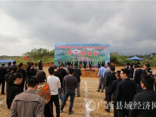 防城区:园丰牧业25万头生猪一体化养殖扶贫项目开工