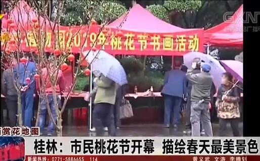 桂林:市民桃花节开幕 描绘春天最美景色