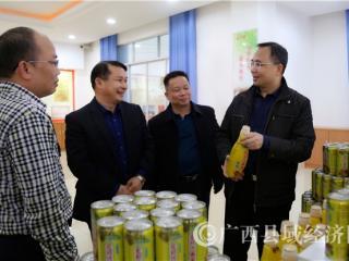 玉林市金融办主任谢炳忠一行深入走访企业了解中小企业融资需求