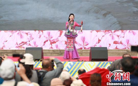 """2019中国•柳州""""鱼峰歌圩""""全国山歌邀请赛现场。 朱柳融 摄"""