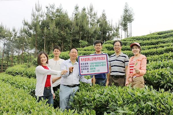 广西农科院花卉所到南丹县考察特色作物试验站工作