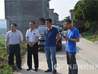 河池市政协副主席苏志宏、巴马县政协副主席黄涛到贺巴高速建设施工现场调研指导