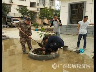 宁明县:机关党支部  周末来植树