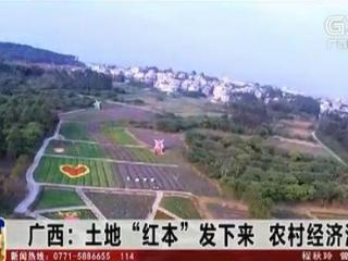 """广西:土地""""红本""""发下来 农村经济活起来"""