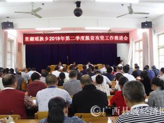 南丹县:里湖瑶族乡召开2019年第二季度脱贫攻坚工作推进会