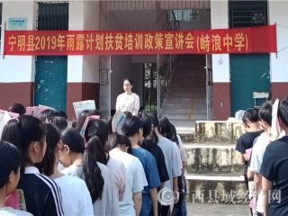 """宁明县开展2019年""""雨露计划""""扶贫培训政策宣传月活动"""