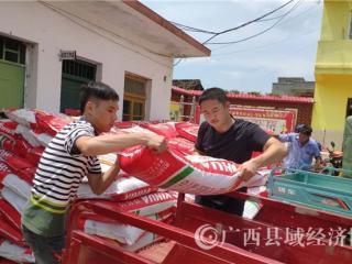 江州区法院为帮扶贫困户送农资