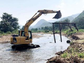 恭城县:开展扫黑除恶专项斗争  严厉打击非法采砂行为