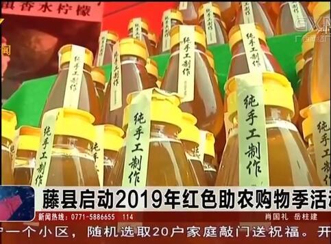 藤县启动2019年红色助农购物季活动