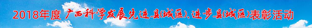 """2018年度""""广西科学发展先进县(城区)、进步县(城区)""""表彰活动"""