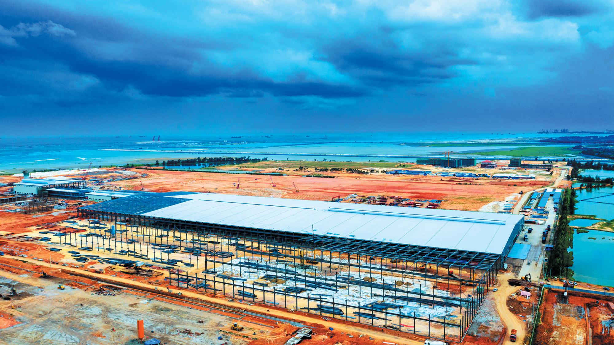 北海信义玻璃产业园初具雏形 首条生产线将于今年9月试产