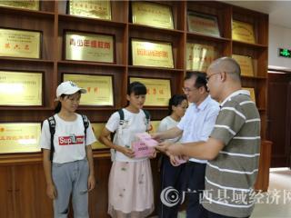广西县促会、天天上县中心到田东中学开展助学活动