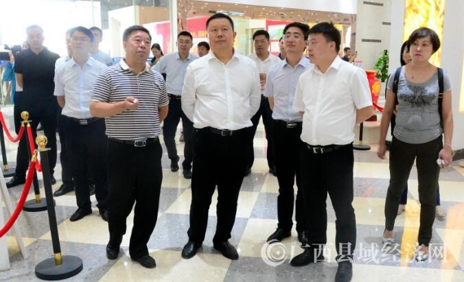 贵州省贵阳市考察团到平桂考察碳酸钙产业发展