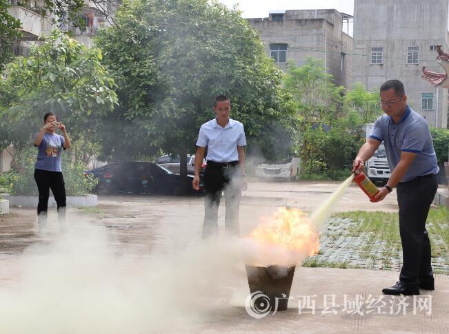 广西宁明县融媒体中心等单位开展消防安全知识培训