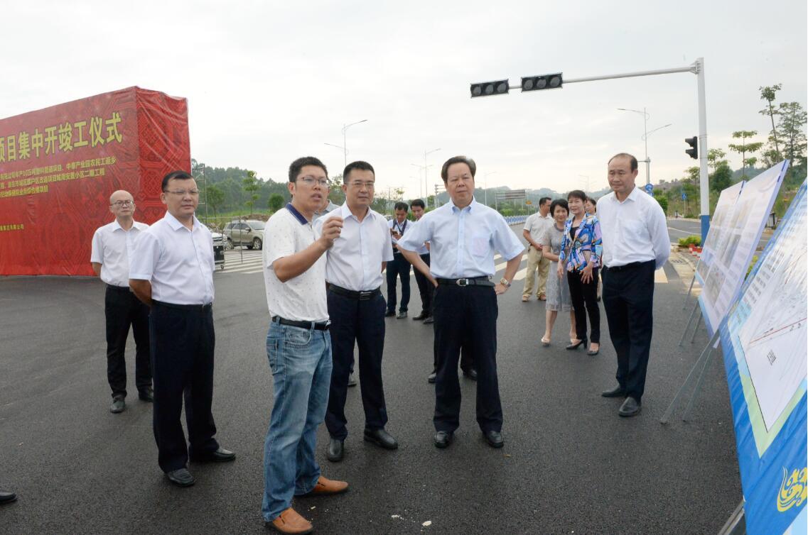 崇左市举行2019年三季度重大项目集中开竣工活动