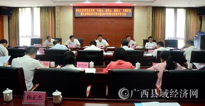 平桂区召开区委理论学习中心组2019年第六次集中学习会