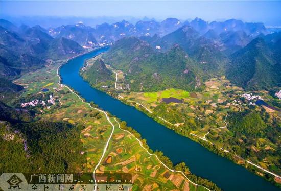 大化县:全国皮划艇马拉松公开赛10月20日在红水河百里画廊举办