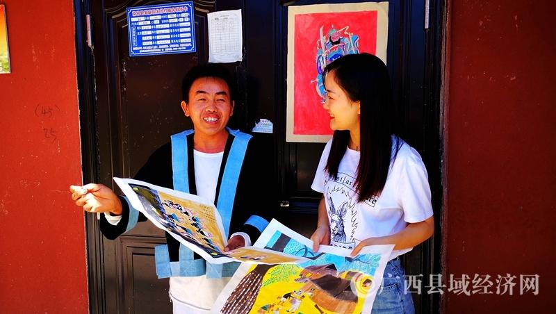 南丹县:自学农民画 赞美新生活