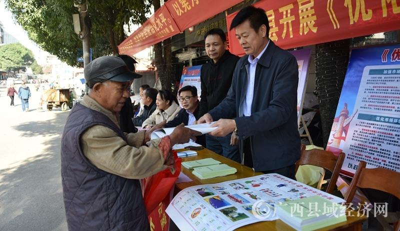宁明县:统战部长上街头 营商条例讲得透
