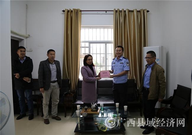 崇左市司法局到宁明县开展春节前慰问活动