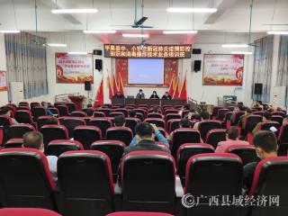 平果县举办中小学疫情防控知识和技术业务培训会