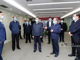 鹿心社陈武到广西建设面向东盟的金融开放门户指挥部调研