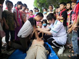 平果市凤梧镇卫生院开展中小学生应急知识培训活动