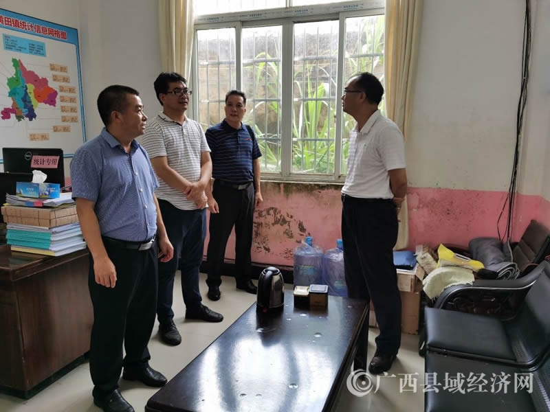 贺州市统计局领导到平桂区调研统计工作规范化建设工作