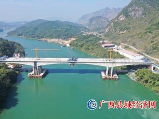 红水河特大桥左幅中跨顺利合龙(高清图)