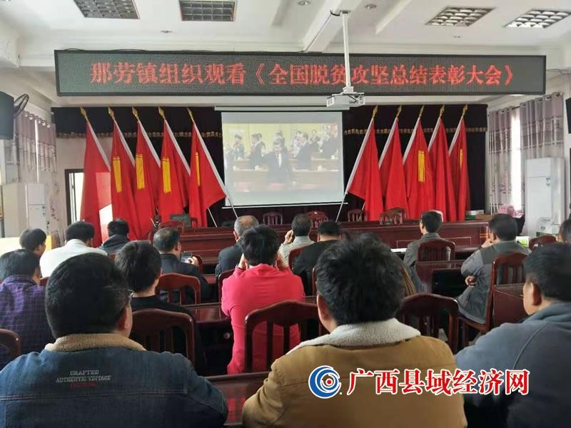 西林县那劳镇:组织收看《全国脱贫攻坚总结表彰大会》